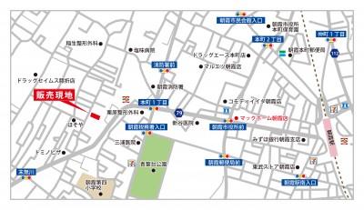 【地図】朝霞市膝折町5丁目1期