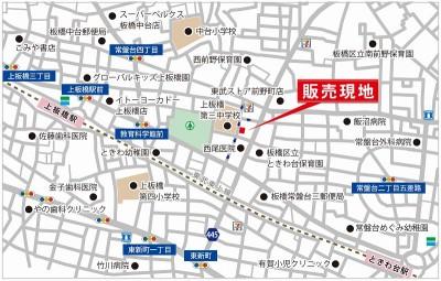 【地図】板橋区常盤台3丁目