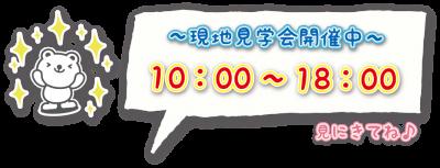 【まっくちゃん】現地見学会開催中/10~18時/見にきてね