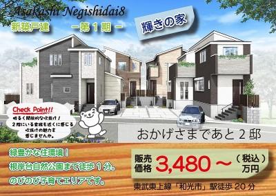 朝霞市根岸台8-1・新築戸建・マミ
